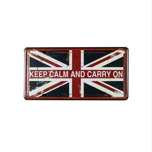 15x30CM Keep Calm and Carry on Vintage Tin Sign Metal Bar Coffee Shop Garage Decor Poster ali vintage quotes poster 24x36