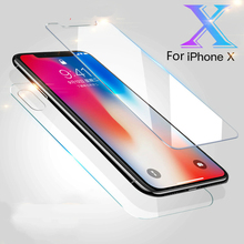 9 H закаленное Стекло Экран протектор для iPhone X 7 8 6 6 S плюс спереди + Назад 360 Полный защита Стекло пленка для iPhone 7 8 плюс