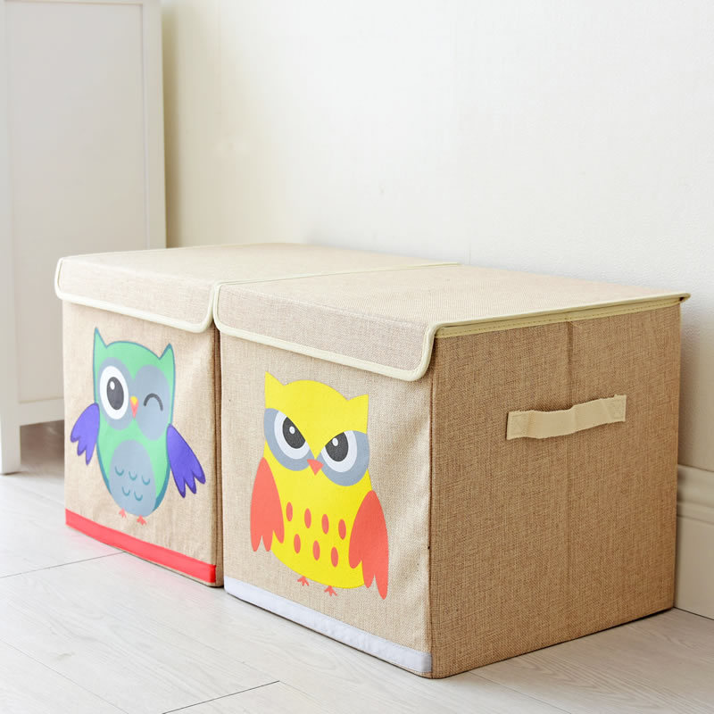 Japan Style Owl Cartoon Storage Boxes Cloth children room Clothes Toys with cover folding sorting Box-in Storage Boxes u0026 Bins from Home u0026 Garden on ... : children storage box  - Aquiesqueretaro.Com