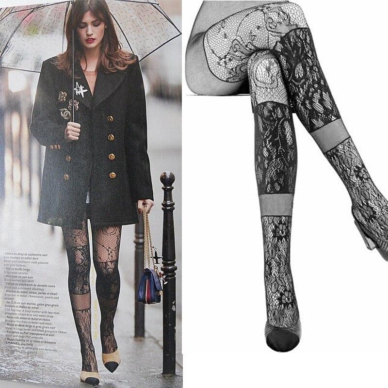 Frauen Sexy Spitze Strümpfe Sterne FäHig Ethqffstockings Mesh Mode Produkte Spitze Knie Stockingshigh Strümpfe Gleichen Absatz