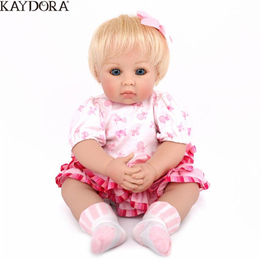 KAYDORA 50 cm bébés Reborn Silicone princesse poupée bébé jouet prix anniversaire fille décoration doux au toucher réaliste nouveau-né poupée