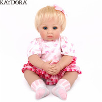 KAYDORA 50cm Babies Reborn Silicone Princess Doll Baby Toy Price Birthday Girl Decoration Soft Touch Lifelike New Born Doll