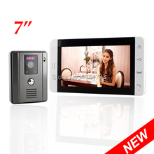 7 Inch TFT Touch Screen Color Video Door Phone Intercom Entry Kit Night Vision doorphone Home Security Camera 100 Degree