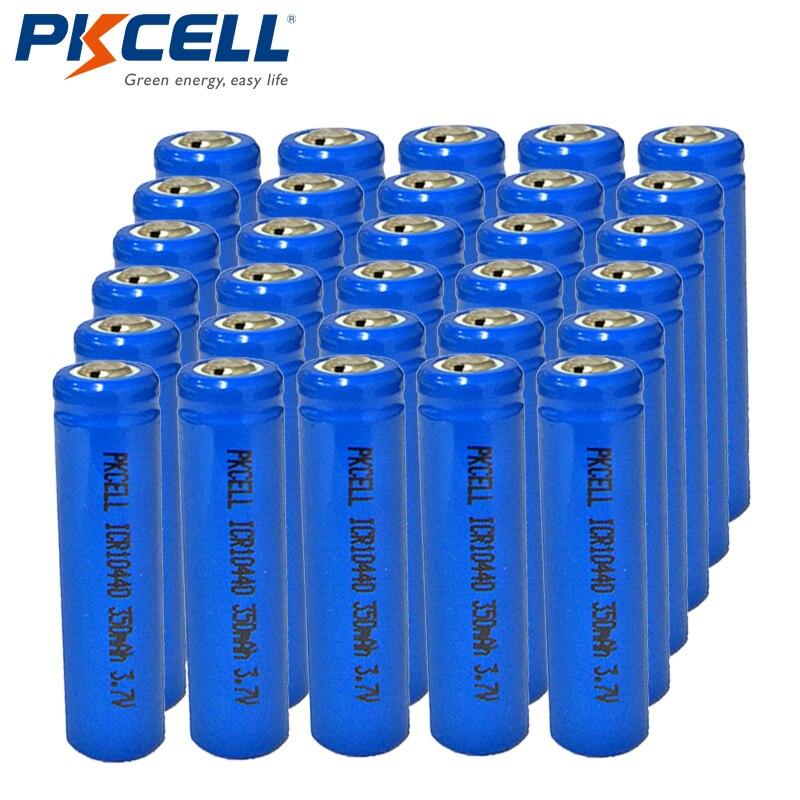 30 sztuk/partia PKCELL akumulator 3.7 V AAA/ICR10440 350 mAh akumulator litowo jonowy w Akumulatory od Elektronika użytkowa na AliExpress - 11.11_Double 11Singles' Day 1