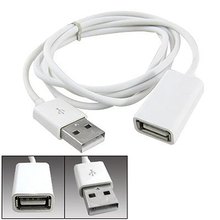 New Arrival White PVC Metal USB 2.0 Male to Female Extension Adapter Cable Cord 1m 3Ft 6TY