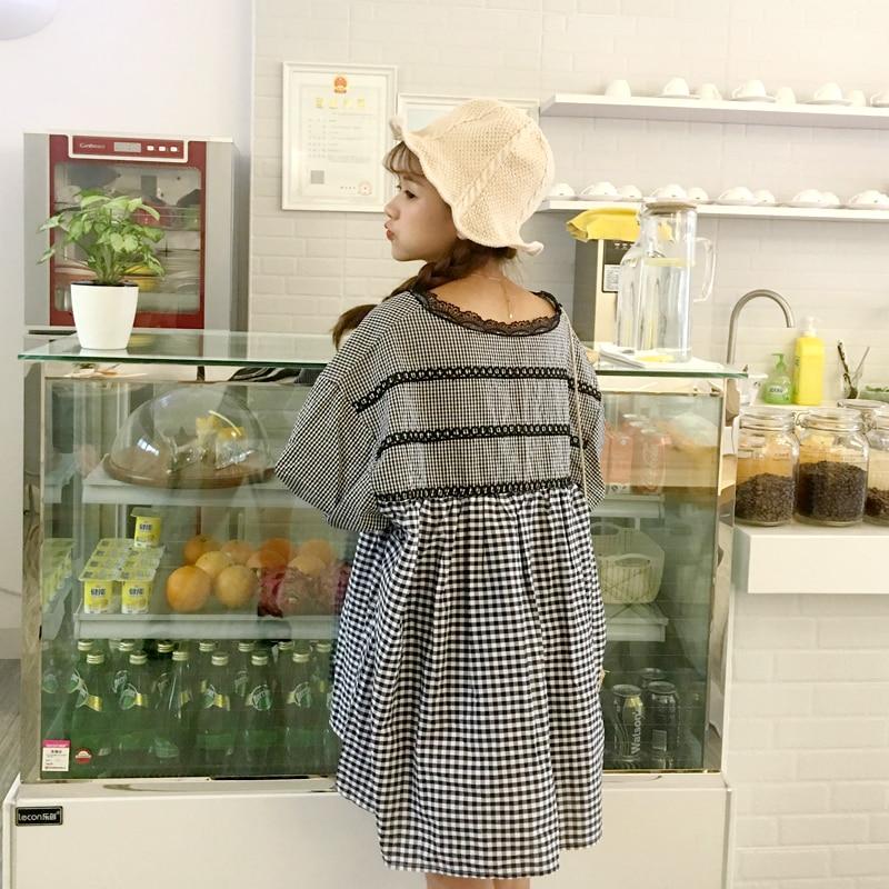 top bluze i majice čipkast v-vrat rukav puhasti A-line slatka - Ženska odjeća - Foto 2