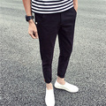2017 New Trend Fashion Mens Pants Summer&Spring Ankle-Length Casual Simple Pants For Man Drop Shipping