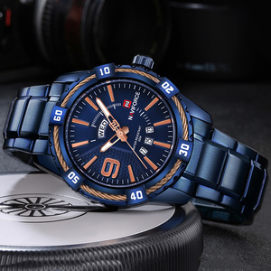 Image 4 - NAVIFORCE Mens Watch Blue Dial Stainless Steel Water Resistant Man Watches Luxury Business Analog Quartz Mens Watches Fashion