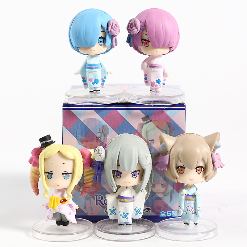 Re: Starting Life In A Different World From Zero Ram Rem Emilia Beatrice Felix PVC Figures Collectible Toys Dolls 5pcs/set