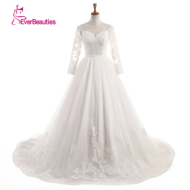 f13be95355 Vestido de Noiva de renda 2018 elegante vestido de boda vestidos de novia  sin espalda Encaje princesa vestidos de novia