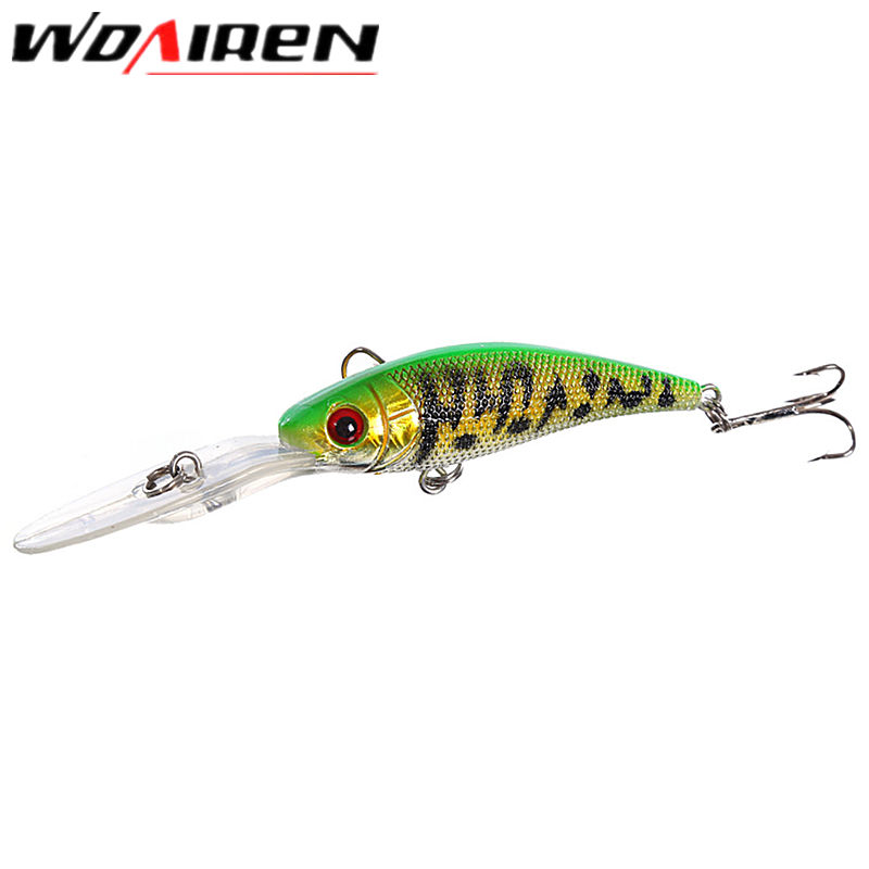 WDAIREN 1pcs 10cm 7.8g Isca Artificial Hard Bait Pesca Minnow Fishing lures wobbler crankbait 6# hook 3D eyes 8 Colors YR-209 1 5 4m 10 5g 11cm hard bait minnow fishing lures crankbait wobbler depth dive bass fresh salt water 4 hook