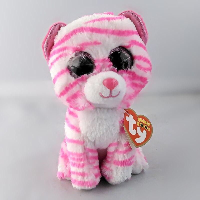 6 15 см Ty Beanie Боос серый Кот плюшевые игрушки куклы для маленьких девочек подарок на день рождения Набивные плюшевые игрушки большой Средств...