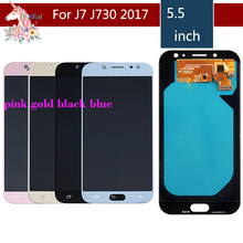 For SAMSUNG Galaxy J7 Pro 2017 LCD Display Touch Screen Assembly Complete J730 J730F J730G J7 Pro Original LCD digitizer AMOLED j7 pro lcd screen replacement for samsung galaxy j7 2017 touch screen j730 j730f lcd display digitizer assembly with adhesive to