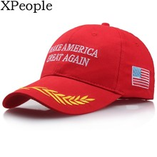 XPeople Trump Hat Make America Great Again Donald Campaign Cap USA Flag Adjustable Cotton Baseball