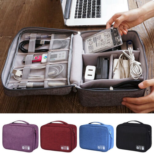 Electronics Accessories Organizer Travel Storage Hand Bag Cable USB  Case HOT Portable Travel Insert Case