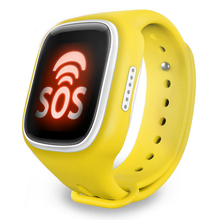 Lo nuevo wi-fi gps ubicación smart watch bebé reloj monitor de localizador del buscador del perseguidor sos de llamada perdida anti smartwatch para niños
