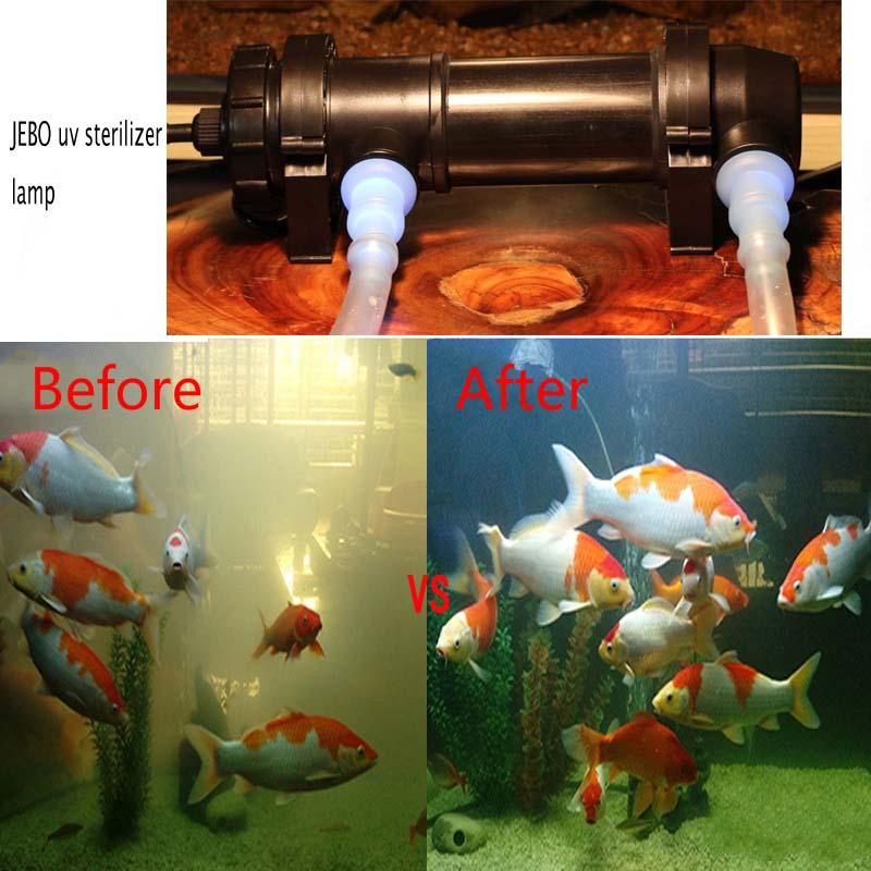 Ultraviolet Sterilizers Home Garden Store Aquarium Sterilizing Lamp Fish Tank Uv Sterilization Lamp Fish Pool Quartz Glass Sterilizer Submersible Algae Bloom Clean Light Water Green Algae Clear Waterproof 5w