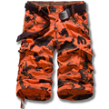 Verano Nuevo Trabajo de tela Pantalones de Los Hombres Pantalones de Algodón Sueltas de Gran Tamaño Casual Hombre Estilo Militar de Camuflaje Overoles Multibolsillos