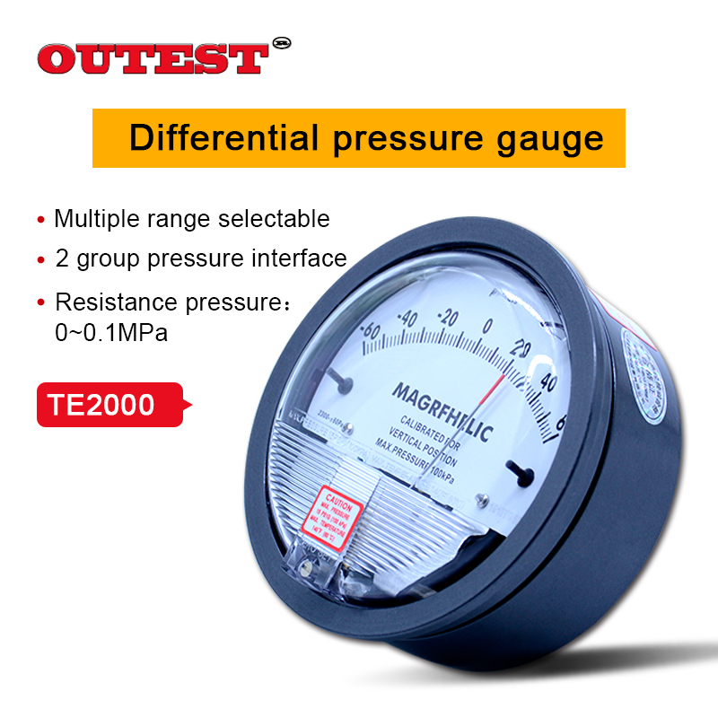 High precision Air differential pressure gauge vacuum Manometer micro pressure gauge Measuring range 0-30PA~0-30KPA for choice 0 1kpa micro differential pressure gauge te2000 high precision 1 8 npt air pressure meter barometer best sale