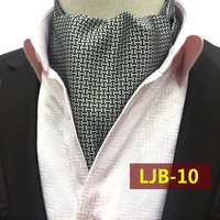 Unique Design Ties Luxury Gray Vintage Paisley Ascot Stylish British Style Jacquard Woven Ascots for Ball