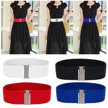 Elegant Women Silver Buckle Wide Stretch Elastic Corset Waist Belts  (4 colors)