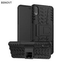 For Vivo V11 Case Soft Silicon & Plastic Armor Phone Holder Anti-knock Pro Cover Funda BSNOVT
