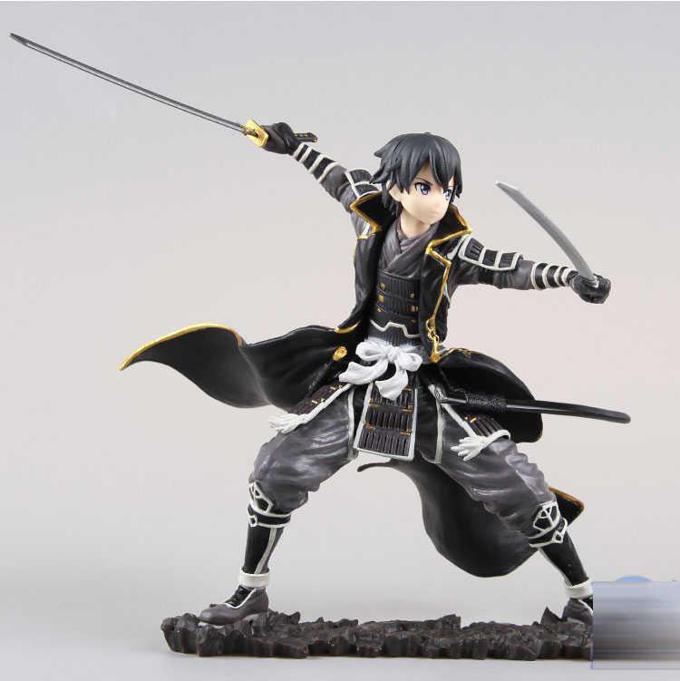 Anime Jepang Gambar Asli Tokoh Anime Sword Art Online Kirigaya Kazuto Action Figure Collectible Model Mainan untuk Anak Laki-laki