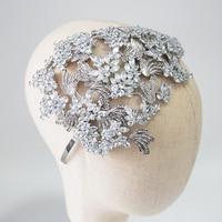 Luxury Crystal Wedding Tiara Side Accent Bridal Headband Crown Rhinestone Fashion Brides Headpiece Hair Accessories