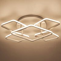 REBLE 110V 220V Acrylic Ceiling Lamp Lighting Fixture Aluminum Led Ceiling Lamp Of The Rooms Bedroom