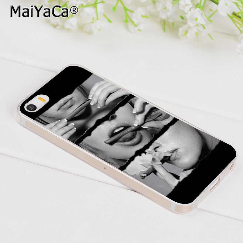 MaiYaCa مثير سيدة السجائر التدخين لطيف ملحقات الهاتف حقيبة لهاتف أي فون 8 7 6 6S زائد X 5 5s SE 11pro