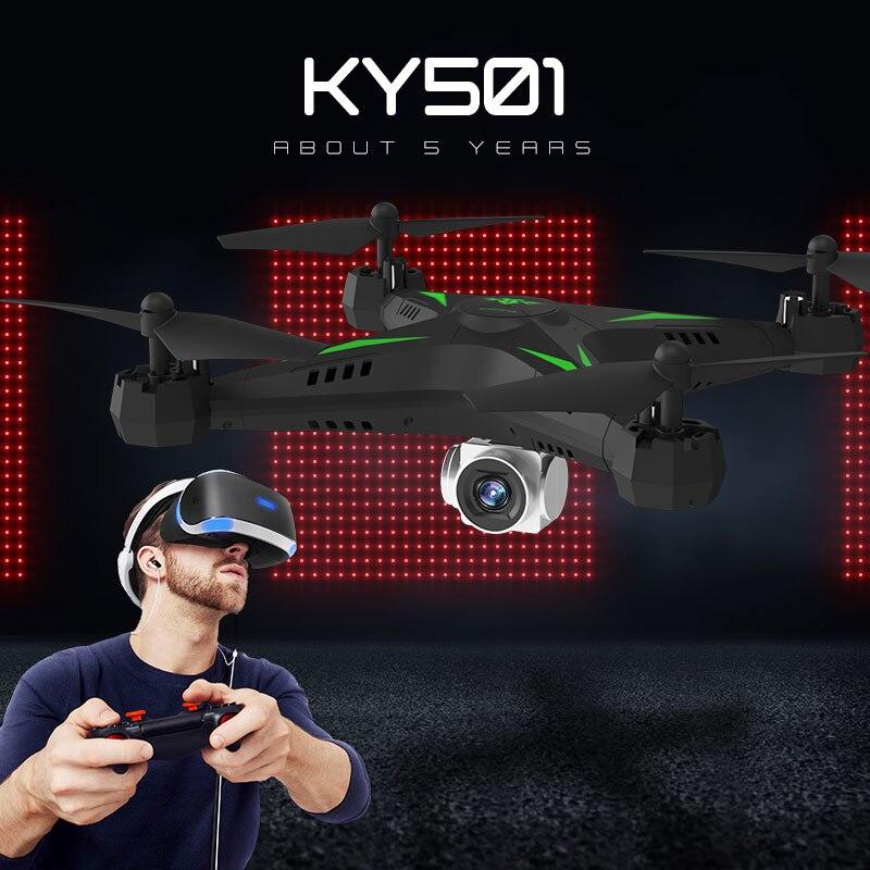 KY601S Профессиональный Дрон для камеры 1080p WiFi FPV HD щетка Пропеллер для мотора длинная батарея воздушный складной Квадрокоптер Дрон - 2