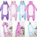 Unisex Adults Children Men Women Unicorn One-piece Hooded Sleepwear Cartoon Jumpsuits Pajamas Cosplay Animal Onesies Sleepwear