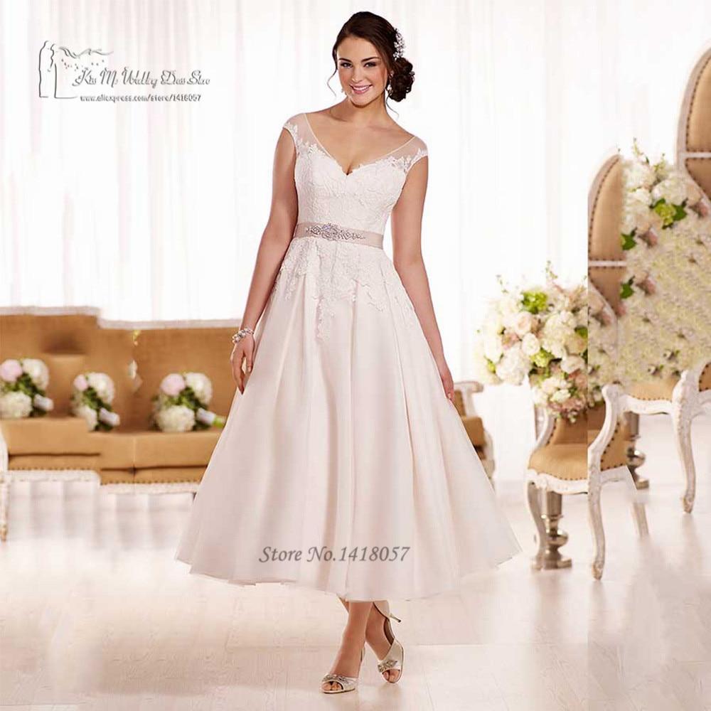 vintage tea length wedding dress page 3 - bcbg