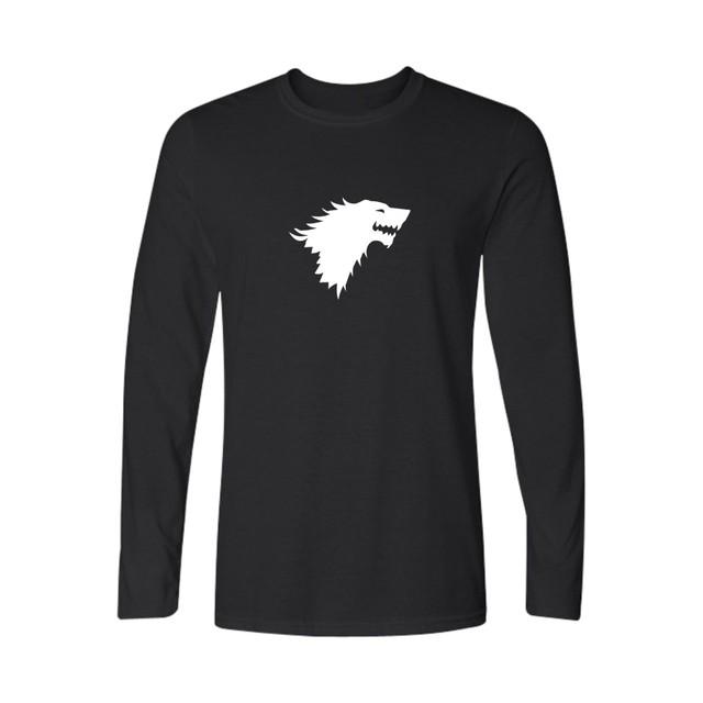 Game of Thrones 4xl famosa Marca de Algodão de Manga Longa T Shirt Homens Engraçado T-shirt Dos Homens/mulheres de Algodão Tops camisas streetwear 4XL