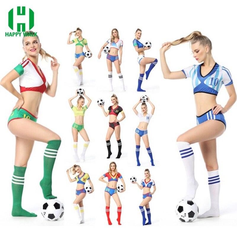 Us 16 99 30 Off 2019 Neue Stil Fussball Cheerleader Kostum Frauen Kurzarm Cheerleading Kostume Uniformen Party Outfit Phantasie Kleid Auf