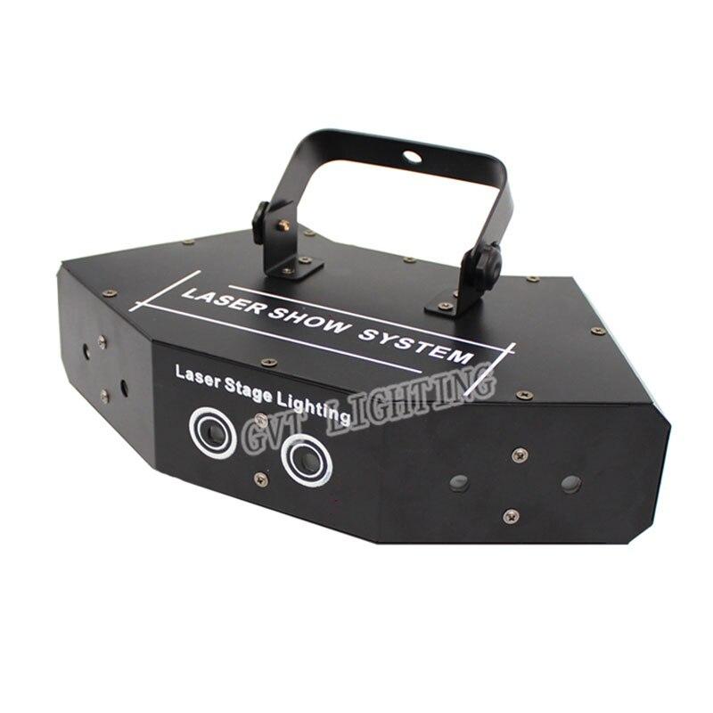 6 Lens Scanning Laser Licht Dmx Rgb Full Color Laser Light Thuis Party Dj Ktv Nachtclub Projector Grote Effecten Podium verlichting - 2