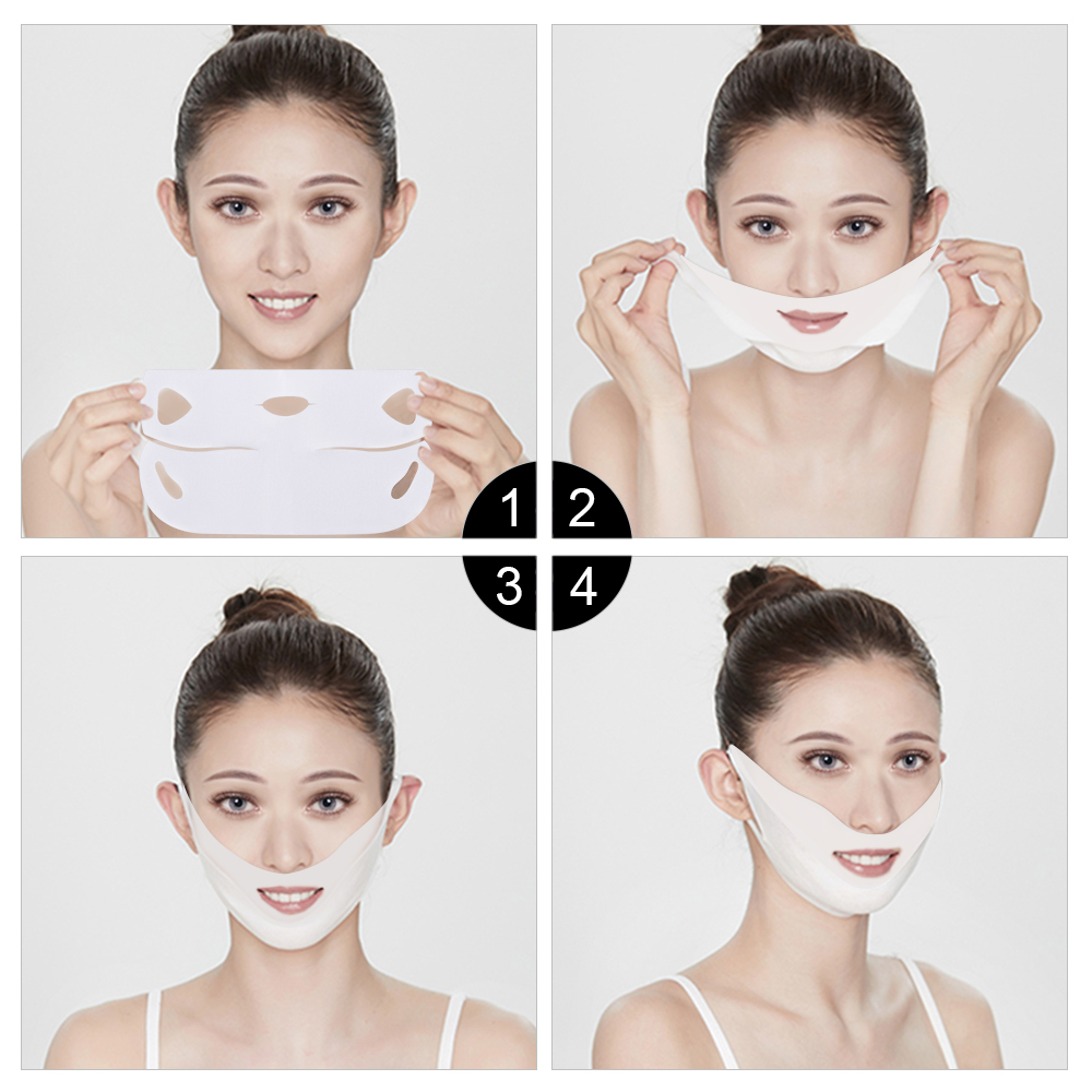 Image 5 - 20pcs/set V Chin Lifting Mask + Hydrogel Eye Patch Mask Moisture Tighten Skin Remove the Dark Circle Wrinkle for Face Care-in Face Skin Care Tools from Beauty & Health