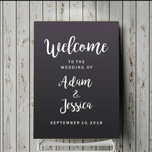 Welcome To The Wedding Quote Decal Custom Bride And Groom Name Date Sticker Vinyl Decor Sign Removable Mural Gift WE10