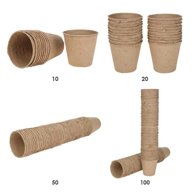 Seedling Trays Biodegradable Paper Pulp Pots Nursery Cups Plates Garden Supplies Environmental Degradable Paper No Pollution