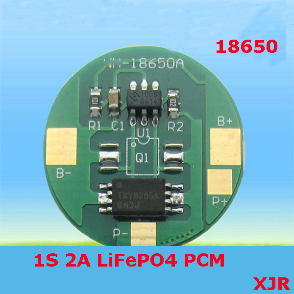 1S 2A 36V LiFePO4 BMS/PCM/PCB battery protection circuit board for