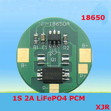 Circuit imprimé de protection de batterie | 1S 2A 3.6V LiFePO4 BMS/PCM/PCB pour 1 paquet, pile 18650(China)