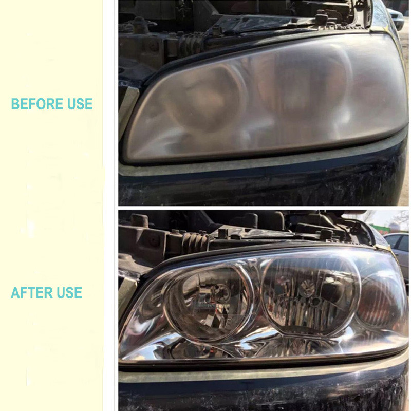 Car Headlight Glass Coating Refurbishment Scratch Repair Hydrophobic