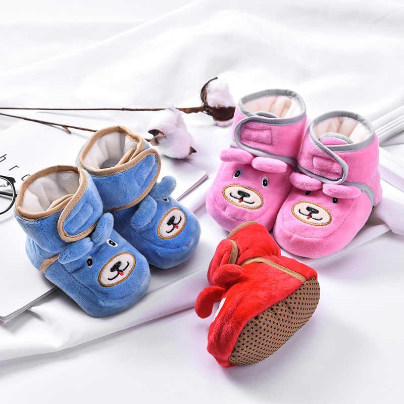 4079b44ee2f5 Newborn Baby Winter Warm Bootie Infant Classic Cartoon Shoes Toddler Floor Shoe  Boys Girls First Walkers