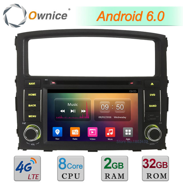9 Android 7 1 Car GPS Radio Player for Mitsubishi Pajero IV 2006 2017 4G DAB+