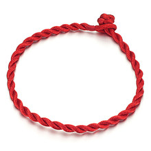 MAE 1 PCS Handmade Lucky Red Rope Weave Bracelet Traditional Chinese Style Bracelets For Women Men Jewelry Lovers Accessories(China)