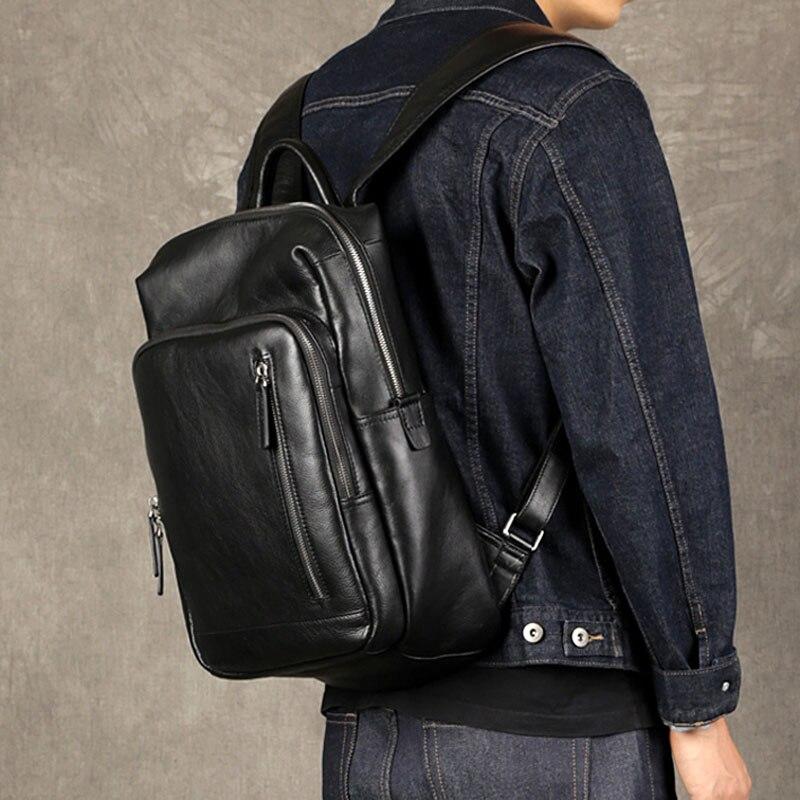 trend Casual Reisetasche Tasche Mode Aetoo Schicht Herren Schulter Erste Computer Leder Schwarzes Business x1Rzn8