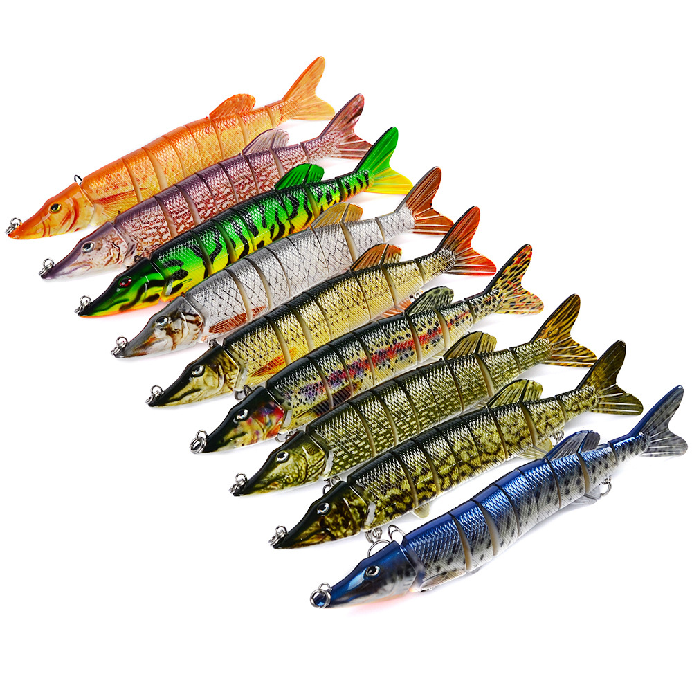 8inch Pike Musky Sea Fishing Bait Lure Swimbait Bass Pike Life Like