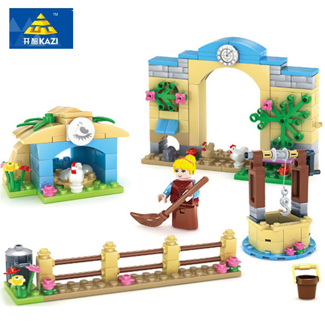 KAZI Building Blocks Playmobil Building Blocks For Girls Blocks For Princess Holiday Birthday Gift For Baby Toys For Children