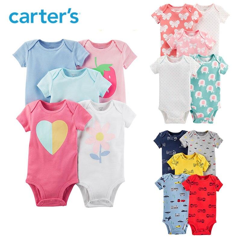5 pcs coeur fleur fraise affiches À Manches Courtes Coton Bodys ensembles d'habillement de Carter bébé Fille D'été 126H326/ 126H577