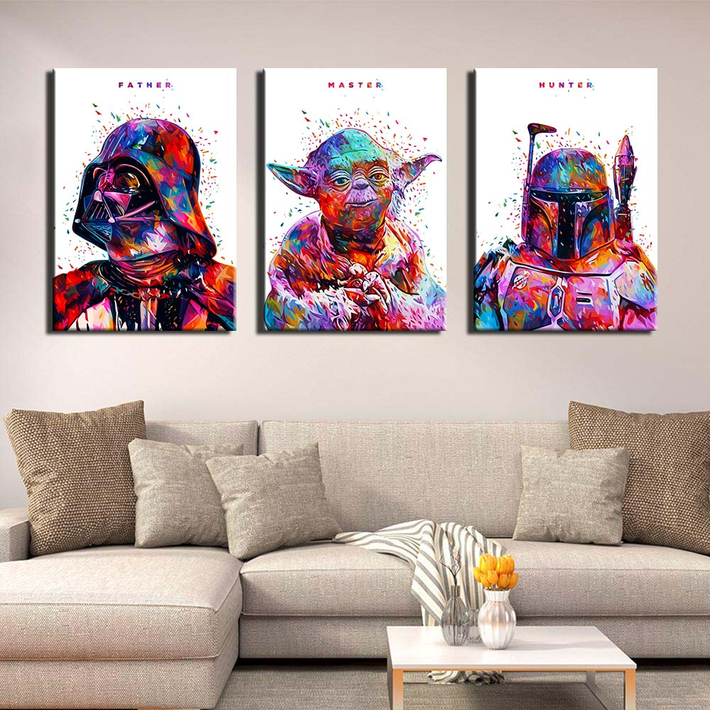 Abstract Star Wars HD printed canvas art painting Movie Artwork by KANEDA Alessandro Pautasso Poster Picture For Living Room image